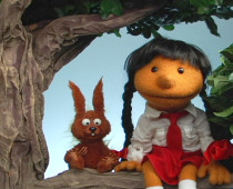 GIRL AND SQUIRREL 1